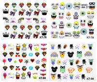 new produce  8 pieces cartoon KT5-6 3d nail art decal stickersFREE SHIPPING