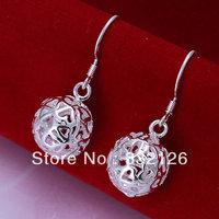 JE100 hot sale lowest price wholesale 925 sterling Silver earring Fashion women charm Jewelry earring,new Solid Ball Earrings