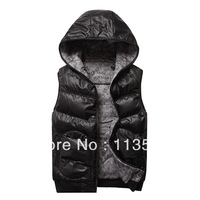 Autumn and winter thick male casual cotton vest with two sides double for male sports lovers vest 1pcs free shipping