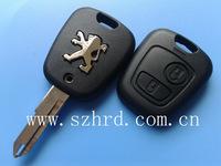 car key for peugeot 206 2 buttons remote key case