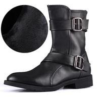 size38-43 fashion men's buckle britsh style side zipper autumn winter side zipper korean martin boots 2026-69