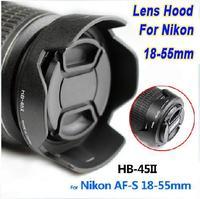 HB-45 High Quality 52 mm  LENS HOOD 52MM  18-55 mm Lens For Nikon  D5100 D5200 D3100 D300 free shipping