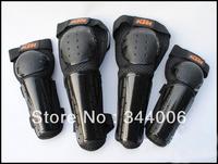 New Motor Biker Motorcycle Off-road Dirt Bike Knee Elbow Guards Pads Black 4 protections