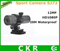 Free shipping  New arrival Mini waterproof Sport Helmet Camera High Definition 1080P Video  camcorder SJ72 Full-HD