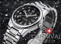 brand carnival swiss ronda quartz movement high tech tritium luminous dial  water proof  watch army military watches for man