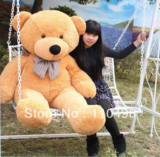 Wholesale 160cm children's plush toys teddy bear, the whole network the lowest price, Christmas gift, free shipping.(China (Mainland))