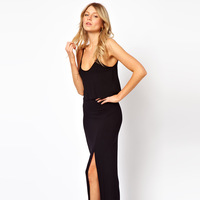 Dearlover spaghetti strap low-cut sexy one-piece dress sweep 6167