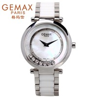 Free shipping Gemax pearl shell table dial rhinestone  rhinestone ceramic elegant ladies   women watch