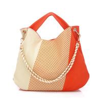 Korean Fahion PU Lether Handbag Women Casual Simple Striped Shoulder Bag High Quality Wholesale and Retail Lady Bag