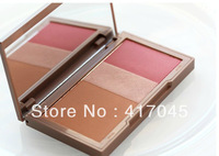 wholesale Brand Makeup Blush free dhl tnt shipping 288pcs New Makeup NK Flushed Bronzer / Highlighter / Blush 14g free shipping