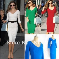 H Hot European and American style star with solid models Victoria Beckhams dress sexy package hip Slim A10
