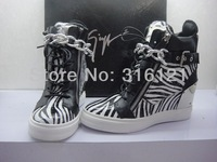 New Giuseppe women sneakers GZ Zebra increased within the chains Boots high-top shoes Size: 35 - 41