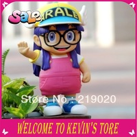New year PVC arale figure 20cm cosplay arale model yellow color Angels cap dr.slump arale anime gifts1piece / Free shipping