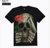 3D t Shirt Men Skull 2014 New Brand Sports T-Shirt Men Rock Style Camisetas Masculina Fashion Men Casual Clothing Tee Shirts