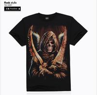3D t Shirt Men Skull Azrael Short Sleeve tshirt Mens Rock Camisetas Masculina Cotton Men Casual Clothing Ropa Hombre 2014 New