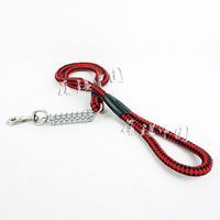 Pet supplies 8 line knitted cotton dog stainless steel spring belt traction rope shock absorption belt
