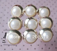 "NB0225 Fashion Buttons 60pcs 11.5mm&0.45"" UV plated buttons for garment"