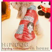 2 honey wadded jacket thermal pet clothes thickening clothes teddy dogs vip autumn and winter