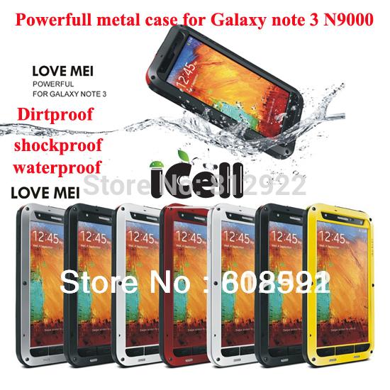 Dirtproof-Waterproof-Metal-Aluminum-Case-For-Galaxy-Note-3-N9000