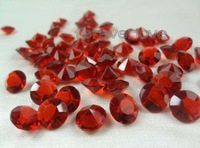 1000pcs Acrylic 10mm Burgundy Diamond Confetti  4Carat  Wedding Favor Party Table Scatter Decoration Supplies