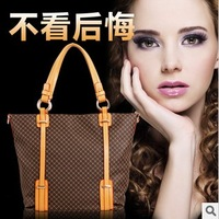 2014 vintage fashion genuine leather one shoulder bags double-shoulder women's bags handbag