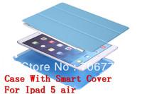 For New iPad Air Smart +Transformer Folding Cross Cover Case For Ipad 5 Wake Skin Sleep Wake Free Shipping VIA 20pcs/lot