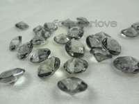 1000 Grey Black Diamond Confetti 10mm Table Centerpiece