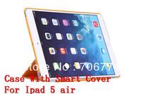 For New iPad Air Smart +Transformer Folding Cross Cover Case For Ipad 5 Wake Skin Sleep Wake Free Shipping VIA 50pcs/lot