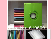 60sets leather case smart cover for ipad air 360 degree PU Leather Cover Case for ipad5 air 5 screen protector + stylus pen