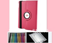 13 colors 360 Degree Rotation PU Leather Case Cover Stand +Screen Protector + Stylus for Apple iPad 5 iPad Air 9.7""