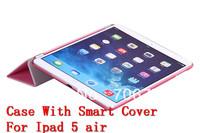 For New iPad Air Smart +Transformer Folding Cross Cover Case For Ipad 5 Wake Skin Sleep Wake Free Shipping VIA 10pcs/lot