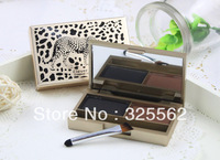 5pcs/lot Waterproof Women Professional 2 colour EYEBROW Powder/Shadow Palette/Cake/Kit Black/Brown With Brush TL-137