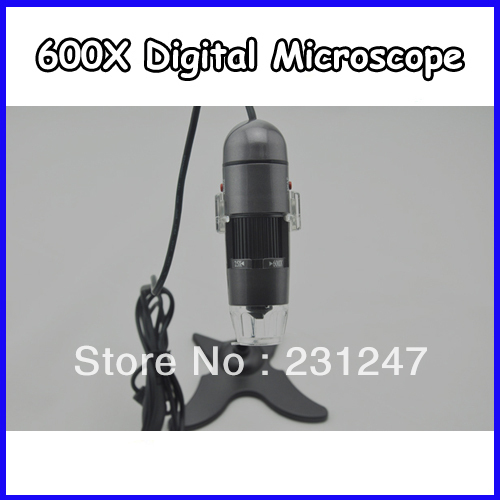 Retail Box + 1.3M 600X 8LED USB Digital Camera Microscope 10PCS/Lot(China (Mainland))