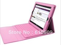 "Wireless Bluetooth Keyboard leather case for 9.7"" new FOR ipad 5 ipad air with retail box"