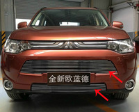 High quality stainless steel Front Grille Around Trim Racing Grills Trim For 2013 Mitsubishi Outlander Samurai