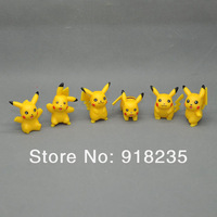 Free Shipping 5/Lot New Cute 6 Style Pokemon Pikachu Mini Figure 12PCS/Set