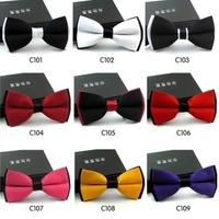 2013 New Fashion gentleman business bow tie 10pcs/lot men's solid bowtie Wholesale 12*6cm