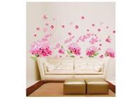High quality ! flower Para Para Sakura DIY Removable Art Vinyl Wall Stickers Decor Mural Decal AY957