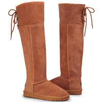 Tall boots snow boots female long boots knee-length snow boots boots high boots high-leg cotton boots winter