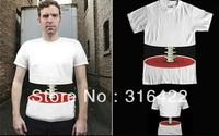 Free shipping 2013 new Fashion Women/men Funny 3D effect bone T-shirt leisure slim t shirt 3D Top tee S-XL