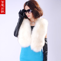 2013 Winter luxury imitation fox fur vest faux rabbit fur vest ladies vest short wedding fur shawl fur cape free shipping D2163