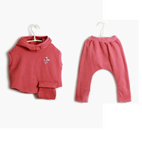Female child autumn and winter set child hooded sweatshirt vest sweatshirt harem pants 2013 children's autumn and winter