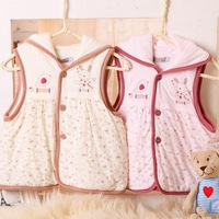 Children's clothing baby vest autumn and winter 100% cotton baby vest bamboo fibre female child vest clip cotton vest
