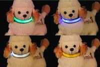 wholesale New high quality Adjustable LED Dog Collar Glow Flashing Light Up Pet Necklace Nylon Luminous Safety Collar*300pcs/lot