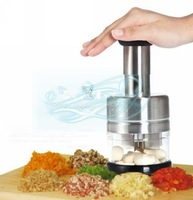 Home kitchen stainless steel multifunction device manually cut shredder garlic onion cutter mixer cooking device