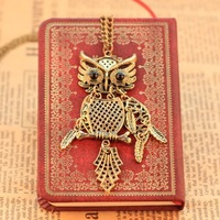 Min order 10usd Vintage Pattern  owl necklace   jewelry Chain necklace for women 2014