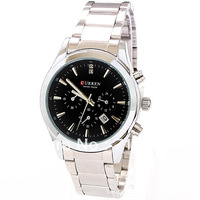 2013 new fashion Men Business watches 20PCS EMS Free stainless strip Quartz watch with calendar, Automatic men's wrist watch