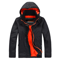 Brand Super Men Casual Sport Winter Waterproof Thick Outwear Man Jacket Windproof 4 color Blue Black Orange A0342