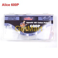 600pcs ALICE AP-600P Guitar Bass Picks 0.58 0.71 0.81 0.96 1.2 1.5 Mixed Plectrums Smooth ABS Standar Plectra