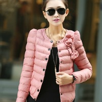 2013 autumn and winter women plus size slim down cotton-padded jacket small cotton-padded jacket short design wadded jacket